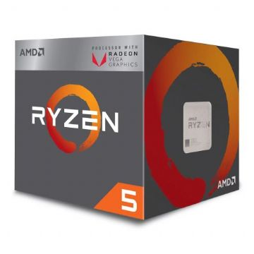 AMD Ryzen 5 2400G CPU with Wraith Cooler, AM4, 3.6GHz, Quad Core